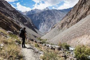 Hiking tour in the Pamir mountains