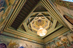 Painted ceiling in Tajikistan