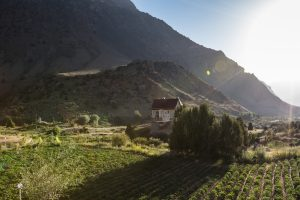 Sunrise over the fields, Tajikistan