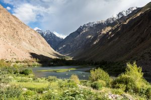Valley in the Pamir mountains