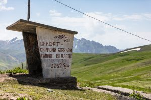 A bus stop at 3252,8m altitude