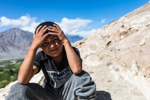 A young boy in Tajikistan