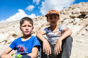 Two boys in Tajikistan